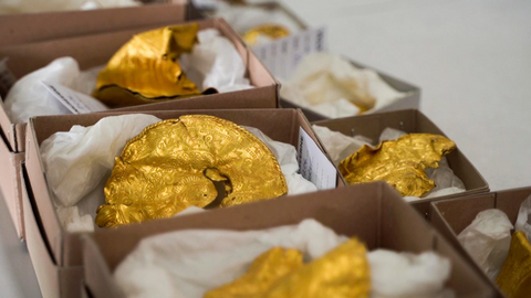 A man with a metal detector unearths a major gold treasure in Denmark