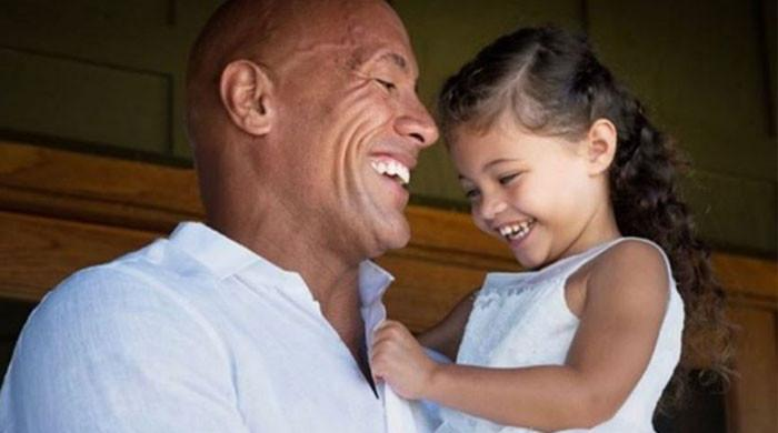 Dwayne Johnson s daughter Tia delivers a rib tickling reaction