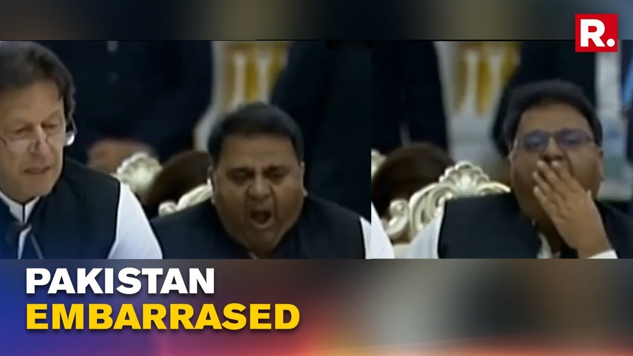 Imran Khan Embarrassed At SCO Pakistan Minister Cant Stop Yawning