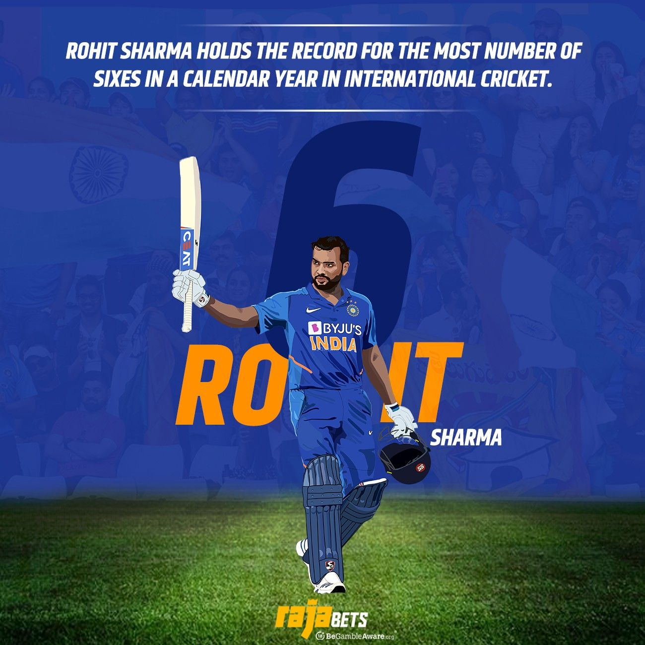 Rohit Sharma is Ro-HIT for a reason 🏏