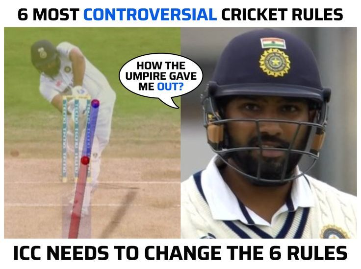 Six most controversial rules in cricket #Cricket #ICC #RohitSharma #CricketRules