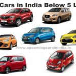 Latest best cars in India below 5 lakhs – 2019 – 2020