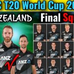 T20 World Cup 2021 New Zealand Final Squad | New Zealand T20 World Cup Confirmed Squad | World Cup